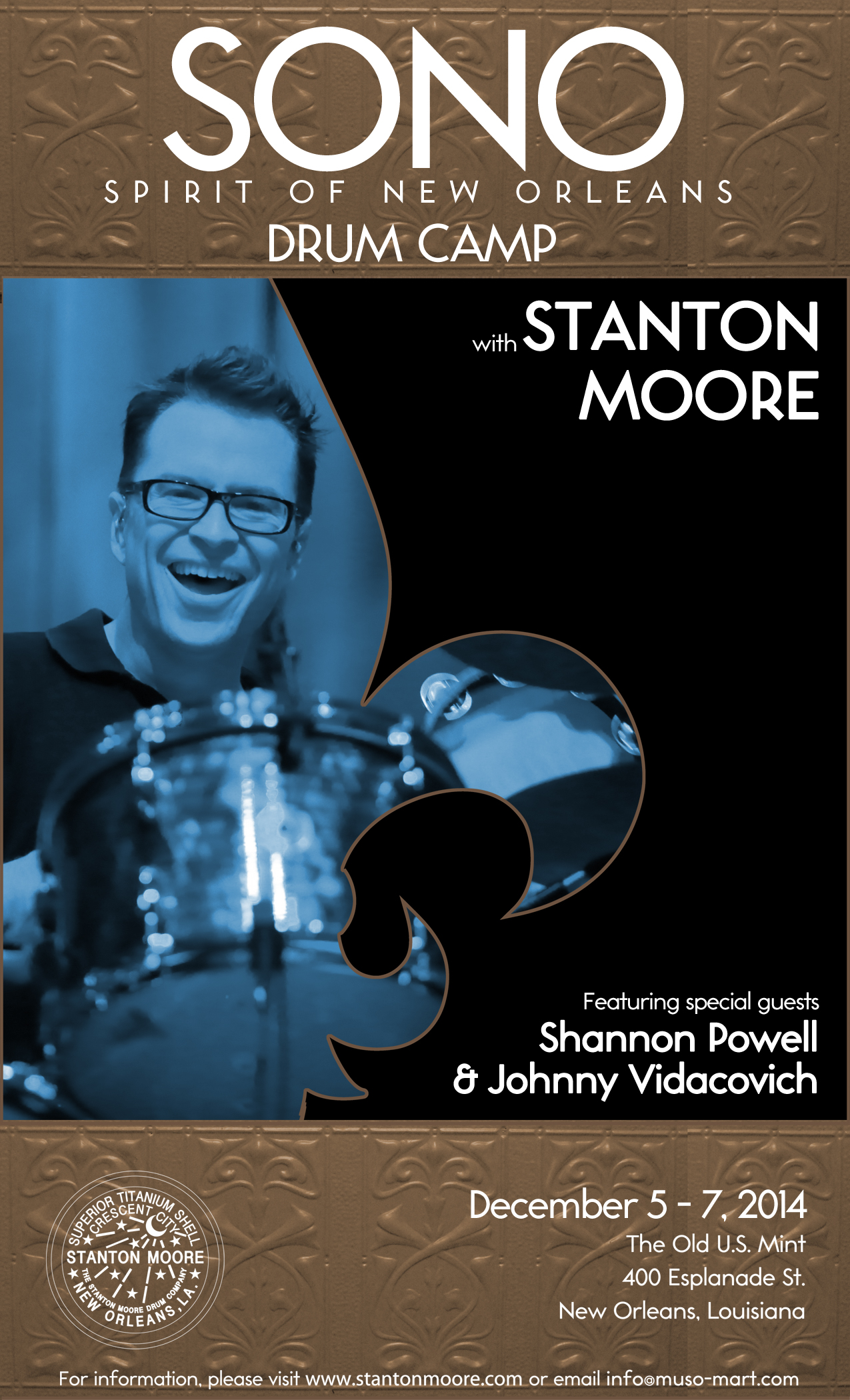 "Stanton Moore's Second-Annual ""Spirit of New Orleans"" Drum Camp Set for December 5–7"