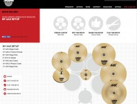 Sabian's new Set-Up Builder allows users to build as many kits as they like, listen to high-quality sound samples, and easily share configurations. Sabian endorsers can also create their own setups and have them automatically updated to their profile pages on Sabian's website....
