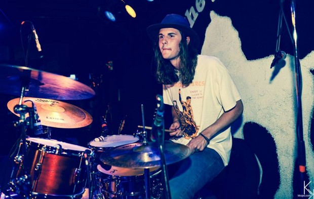 Drummer Sam Gidley of the Lonely Biscuits