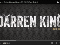 <b>Darren King of Mutemath at Guitar Center's 2012 Drum-Off Grand Finals (Part 1)</b>