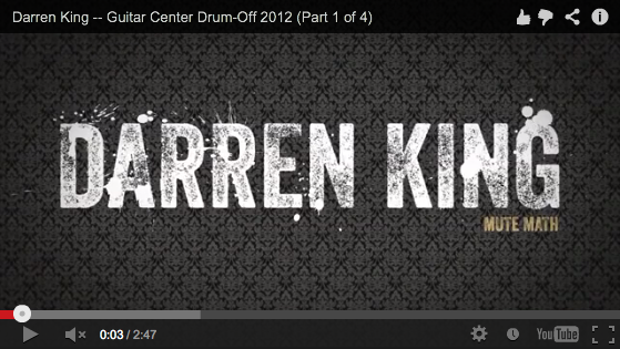 Darren King of Mutemath at Guitar Center's 2012 Drum-Off