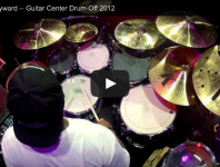 <b>Gerald Heyward at Guitar Center's 2012 Drum-Off Grand Finals</b>