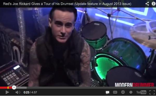 Drummer Joe Rickard of Red