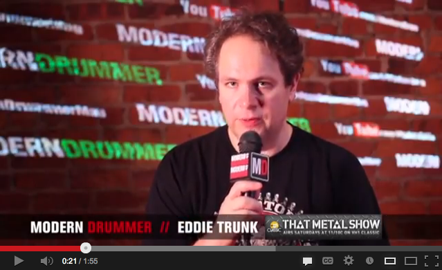 Radio and TV Personality Eddie Trunk Checks In With Modern Drummer Online