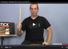 Click here to check out a video lesson on the contemporary rudiment known as hairta.