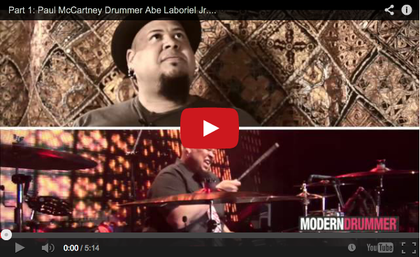 VIDEO - Part 1: Paul McCartney Drummer Abe Laboriel Jr. Interview
