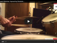 VIDEO! Jazz Drummer's Workshop: Approaching Stan...