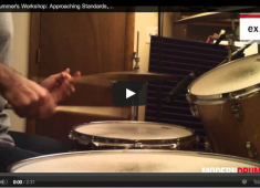 Click here to check out a video lesson to accompany the Jazz Drummer's Workshop article on applying standard tunes to the drums from the February 2014 issue.