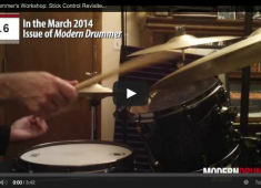 Click here to check out part 4 of our Jazz Drummer's Workshop series Stick Control Revisited.