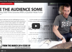 """Click here to check out a video lesson to accompany March 2014's Rock & Jazz Clinic, """"Give the Audience Some!"""""""