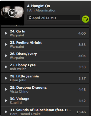 Modern Drummer Magazine April 2014 Spotify Playlist