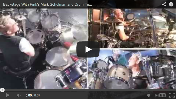 "VIDEO - Backstage With Pink's Mark Schulman and Drum Tech John ""Pel"" Pelligrinelli"