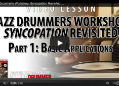 Click here to check out part 1 of a Jazz Drummer's Workshop series by Steve Fidyk focusing on ways to develop coordination on the drumset using Ted Reed's classic book Syncopation.