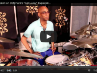 "<b>Omar Hakim Video: Daft Punk's ""Get Lucky"" </b>"