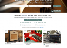 "The founders of New York City–based tech startup Sparkplug have launched what they're calling the first online community marketplace specifically designed for musicians and artists to share their creative tools and resources, casting itself as ""the Airbnb of the instrument/gear rental world."""