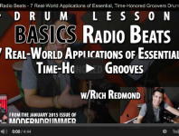 Click here to check out a video of Jason Aldean drummer, Rich Redmond demonstrating some of the popular radio grooves discussed in his article from the January 2015 issue.
