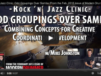 LESSON! Rock & Jazz Clinic: Odd Groupings Over Samba (From th...