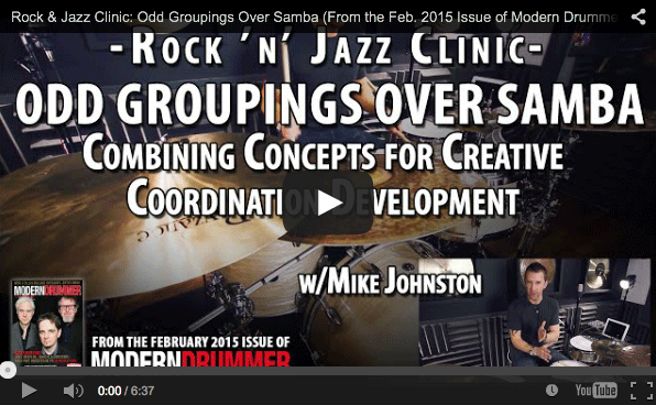 LESSON! Rock & Jazz Clinic: Odd Groupings Over Samba (From the Feb. 2015 Issue)