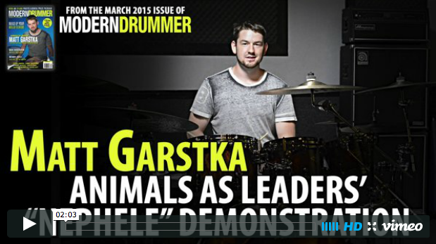 "Video: Matt Garstka Demonstrates Animals as Leaders' ""Nephele"""