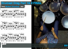 In this lesson, we're focusing on orchestrating the drag, which is traditionally played on the snare, by moving the two grace notes to the bass drum and tom. Click to check out a video demo!