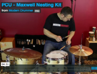 Maxwell Drums has an all-acoustic option that packs a huge sound in an ultra-portable setup, called the Nesting Kit ($1,749). Click here to check out a video demo.