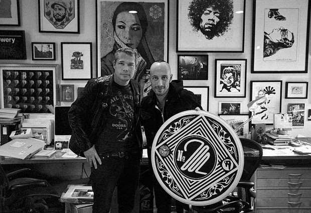 Frank Zummo and Shepard Fairey photo by Obey Giant