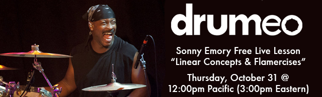 Free Online Lesson With Sonny Emory This Thursday!