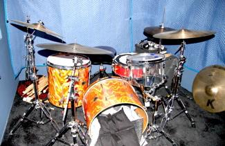 Brian Reitzel's Studio drum set