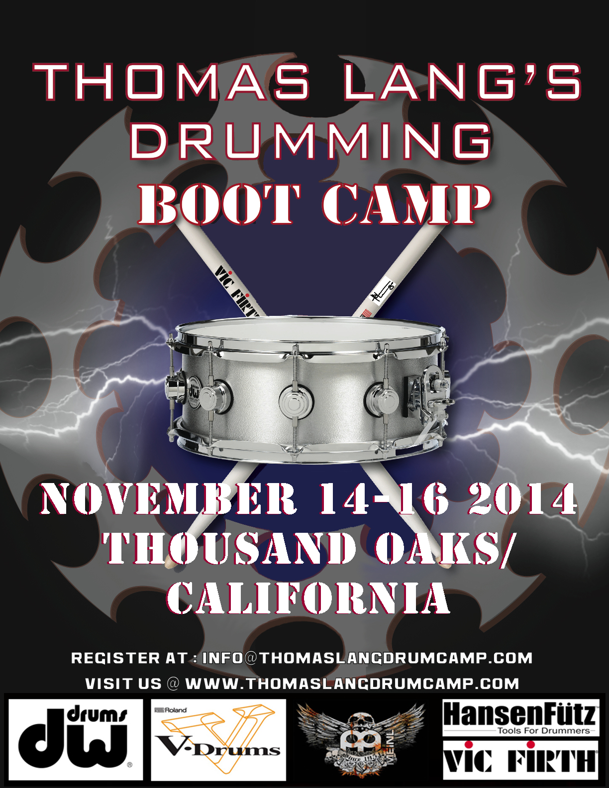 Thomas Lang Drumming Boot Camp Dates Announced!