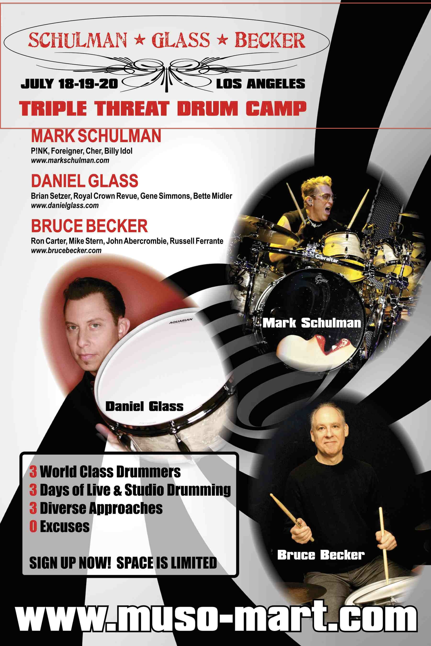 TRIPLE THREAT Drum Clinic Poster