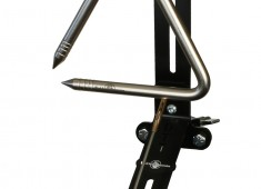 """The Di Sanza Triangle Trigger, designed in collaboration with Black Swamp artist Tony Di Sanza, can be mounted to any existing cymbal stand, is adjustable both horizontally and vertically, and fits triangles up 9""""...."""