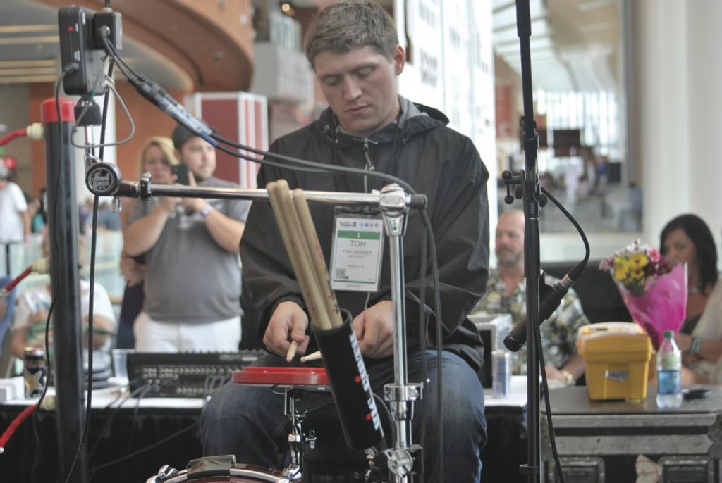 drummer Tom Grosset of Toronto's world rec run