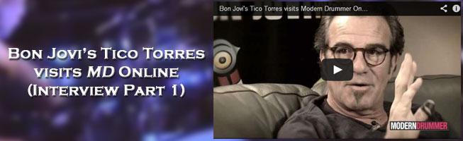 Bon Jovi's Tico Torres visits Modern Drummer Online (VIDEO)