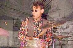 Drummer Vinnie Zummo at the kit
