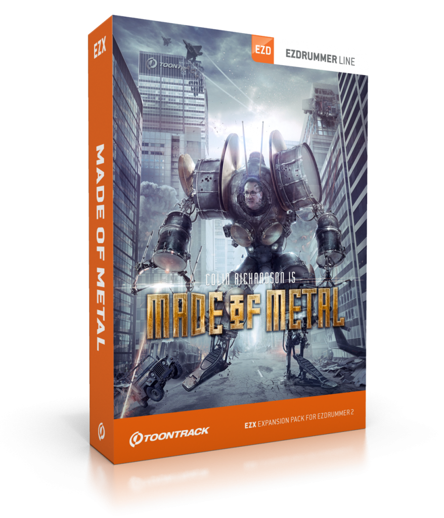 "Toontrack Releases ""Made of Metal EZX,"" an EZdrummer 2 Expansion by Producer Colin Richardson"