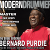 "April 2015 Issue of <em>Modern Drummer</em> featuring Bernard ""Pretty"" Purdie"