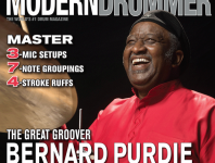 See what's in, and where to order, the April 2015 issue of <em>Modern Drummer</em> magazine featuring Bernard Purdie.