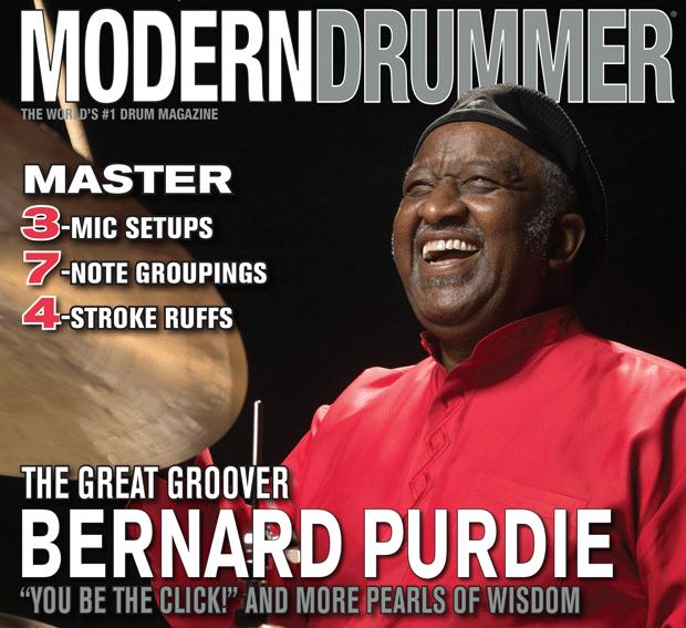 "April 2015 Issue of Modern Drummer featuring Bernard ""Pretty"" Purdie"