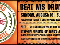 Stephen Perkins, drummer of Jane's Addiction will lead the BEAT MS Drum Circle Sunday August 10th at the Paramount Ranch nestled in Agoura Hills, CA.