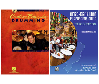 <i>Creative Brazilian Drumming</i> by Christiano Galvão <br /><i>Afro-Brazilian Percussion Guide</i> By Kirk Brundage