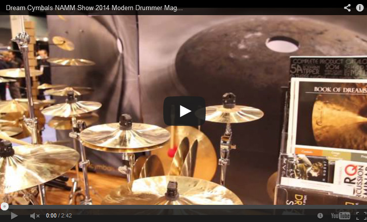 VIDEO - Dream Cymbals NAMM Show 2014 New Gear Coverage