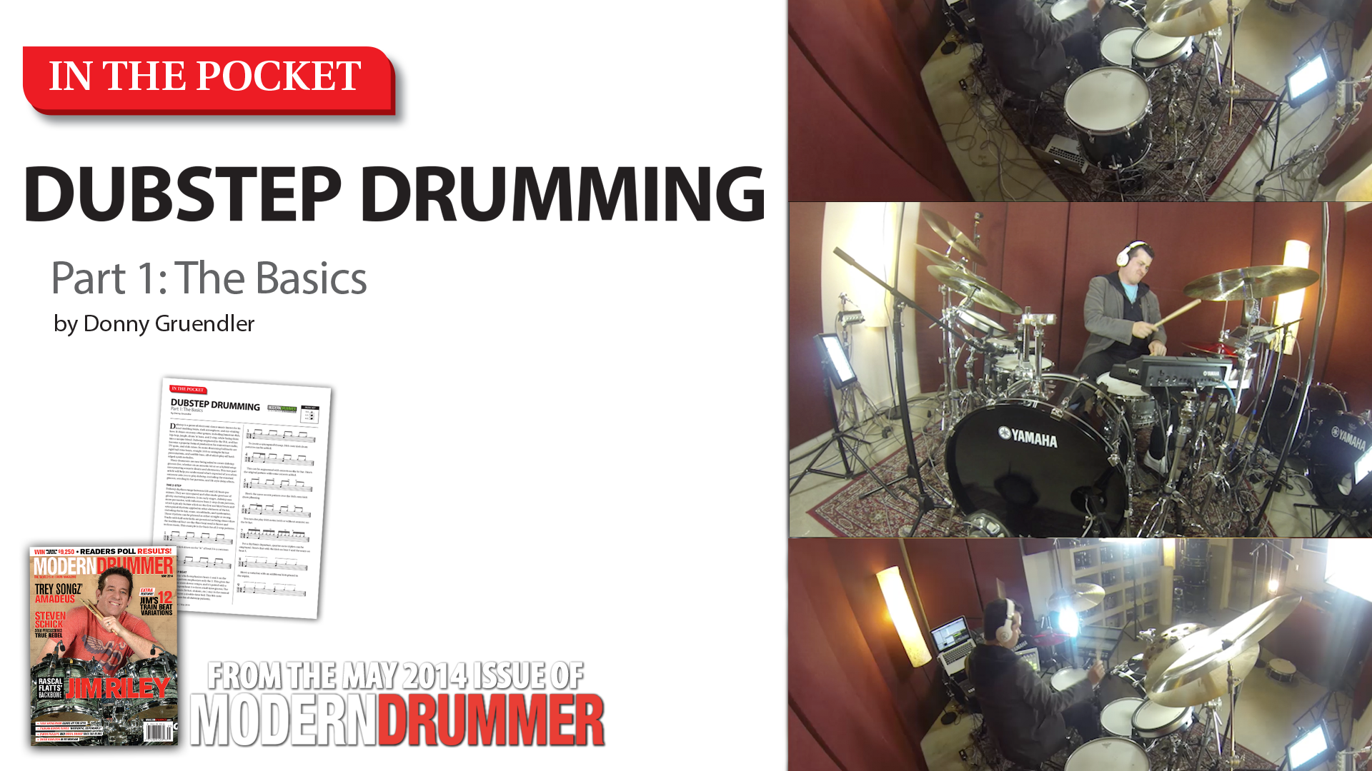 VIDEO! In the Pocket: Dubstep Drumming, Part 1: The Basics (From the May 2014 Issue)