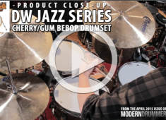 Jazz series drums are offered in just about any size you could want—from 7x8 Fast toms to 20x24 kicks—but our review kit came as a classic bebop setup with cherry/gum shells. Click here to check it out.