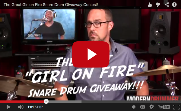"The Great ""Girl on Fire"" Snare Drum Giveaway!"