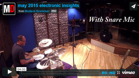 VIDEO LESSON! Electronic Insights: Drum Miking 101, Part 4: Four Mics