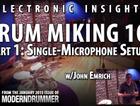 Electronic Insights: Drum Miking 101, Part 1: Single-Microphone S...