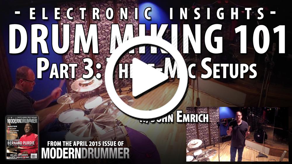 Drum Miking 101, Part 3: Three-Mic Setups (VIDEO)