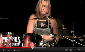 Hannah Ford at Memphis Drum Shop