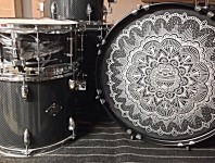 <b>Acrylic Customz Creates Custom Bass Drum Heads of Any Size</b>