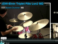 VIDEO LESSON! Elvin Jones–Style Triplet Fills, Part 2: Orchestrat...